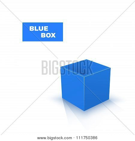 Blue Box isolated on white background. Vector