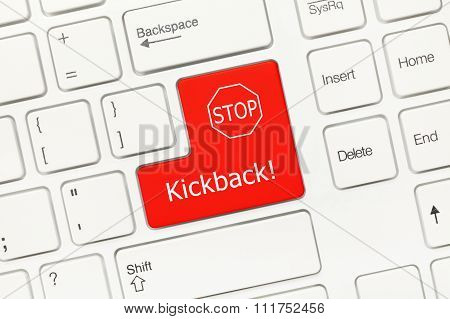 White Conceptual Keyboard - Kickback (red Key)