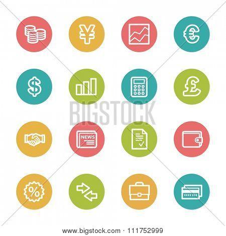 Finance web icons set