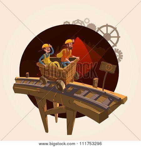Mining cartoon concept