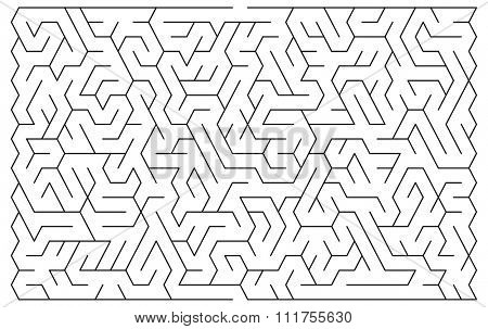 Maze illustration for background in vector with easy level of difficulty