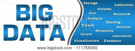 Big Data Keywords Blue Horizontal