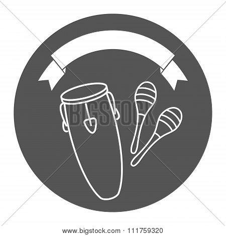 Music shop logo template.