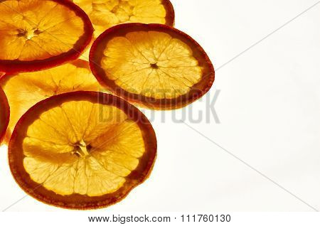 Against The Light Orange Slices Elevated View