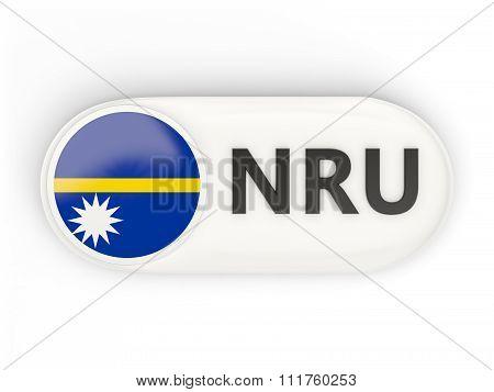 Round Icon With Flag Of Nauru