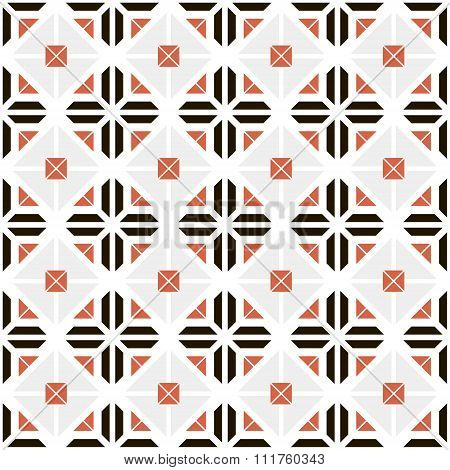 Seamless Pattern Of Trapeziums And Envelope Shapes