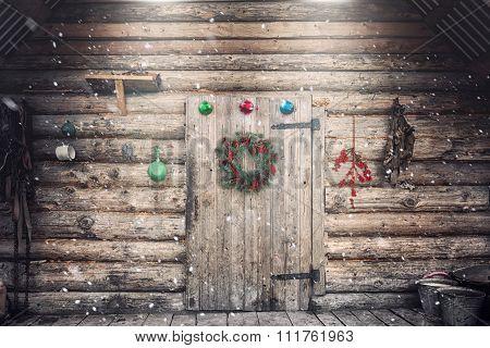Farmhouse Wall On Christmas