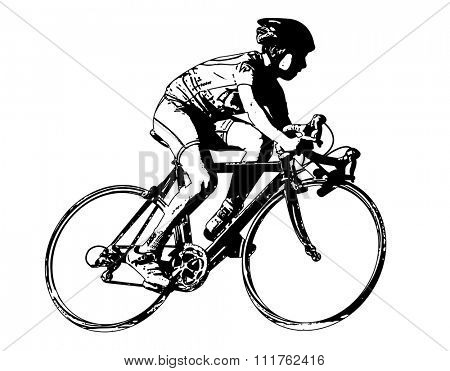 race bicyclist