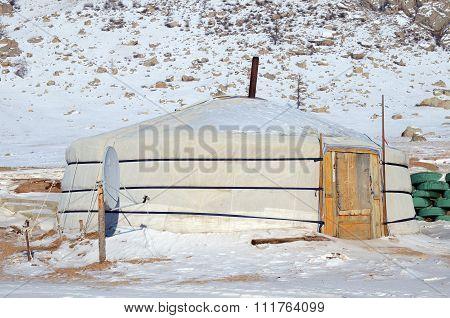 Terelj, Mongolia - Dec,03 2015:Nomadic Yurt In Terelj National Park. Mongolia