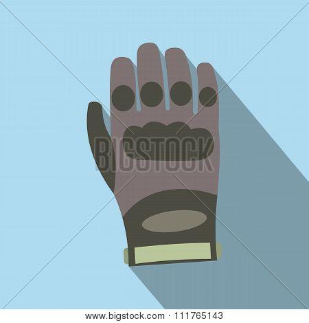 Paintball glove flat icon