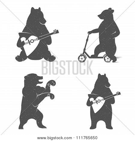 Vintage Illustration Of Bear
