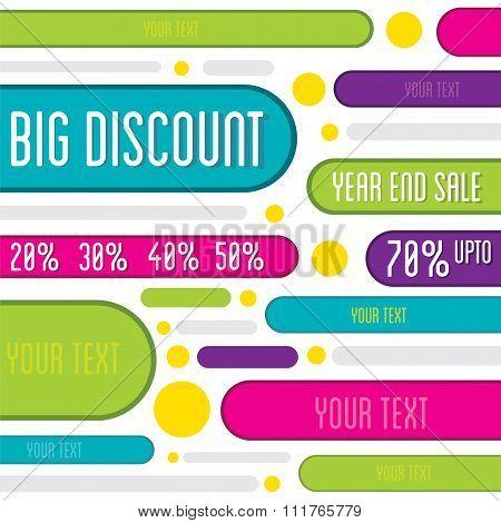 big offer discount banner or flyer design
