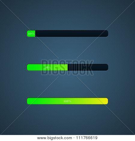 Progress Loading bar. Vector