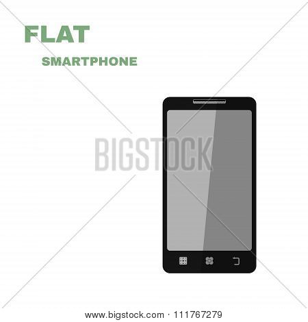 Flat Smartphone  isolated on white. Vector