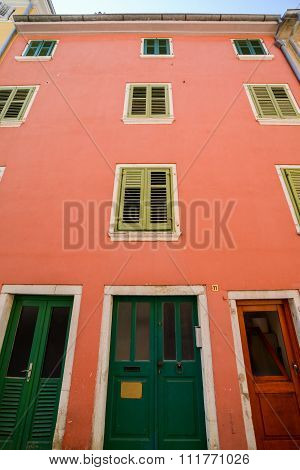 Windows And Walls In Old Town Rovinj Croatia
