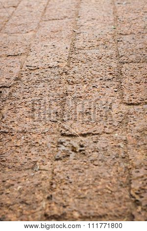 The Pattern Of Laterite Walkway In The Park
