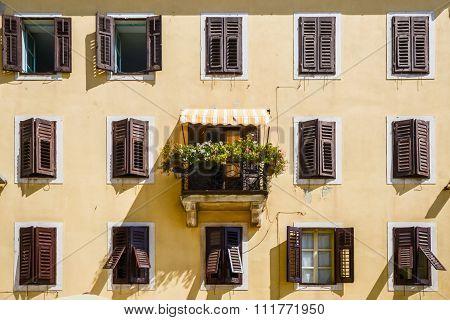Windows And Walls In Old Town Rovinj Croatia