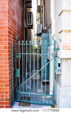Gated Entrance to Alley