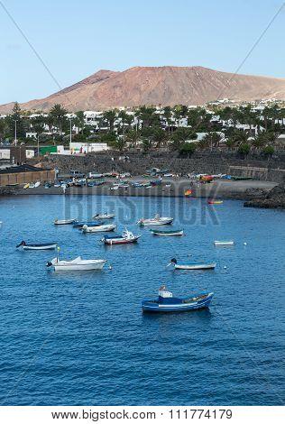 LANZAROTE SPAIN - SEPTEMBER 9 2015: Playa Blanca on Lanzarote. Canary Island .Spain