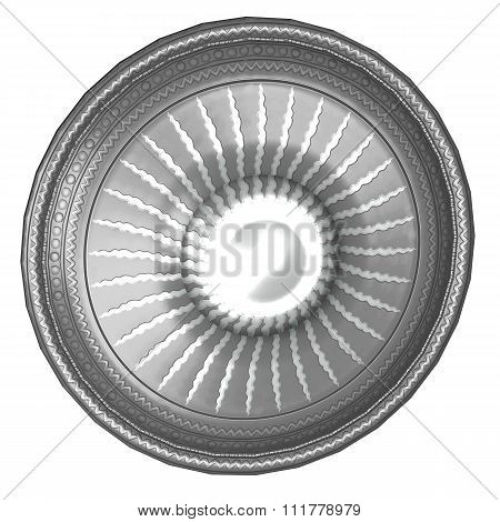 Round Shield With Sun Image
