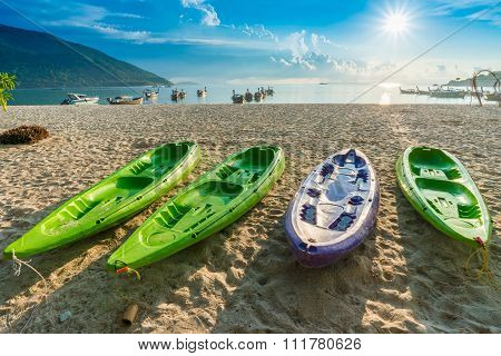 Kayak Boat At The Tropical Beach