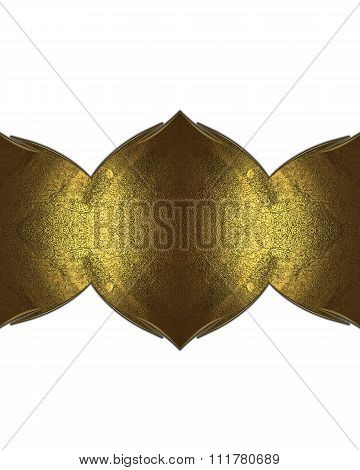 Gold Nameplate. Element For Design. Template For Design. Copy Space For Ad Brochure Or Announcement