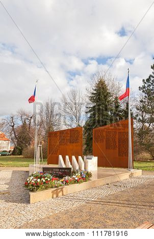 War Memorial In Brandys Nad Labem Town, Czech Republic