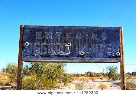 Desert Center Sign