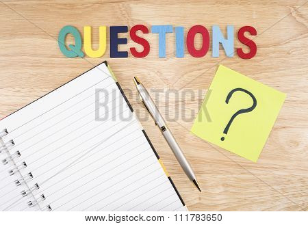 Questions Busniess Concept