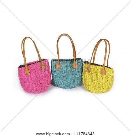 Colored Straw Bags