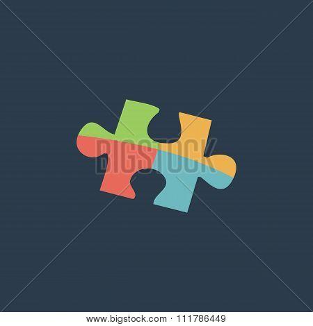 Simple puzzle icon.