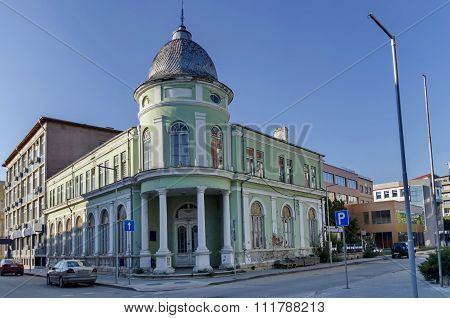 Razgrad town, street and house