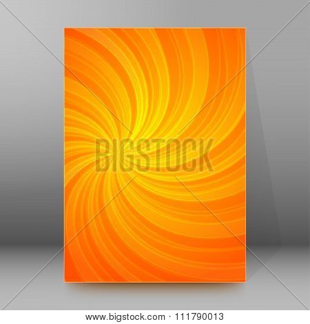 Energy Spiral Background Brochure Cover Page Layout