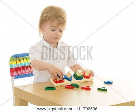 Boy in a Waldorf kindergarten