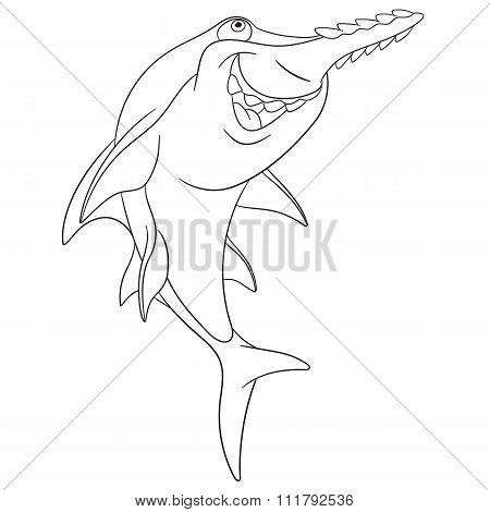 Cute Cartoon Sawfish