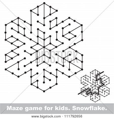 Search the way. Kid maze game to be colored.
