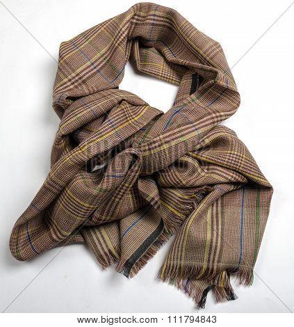 Pashmina chekered brown scarf