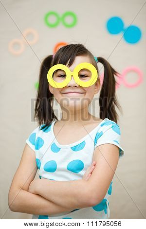 Funny Girl With Fake Glasses