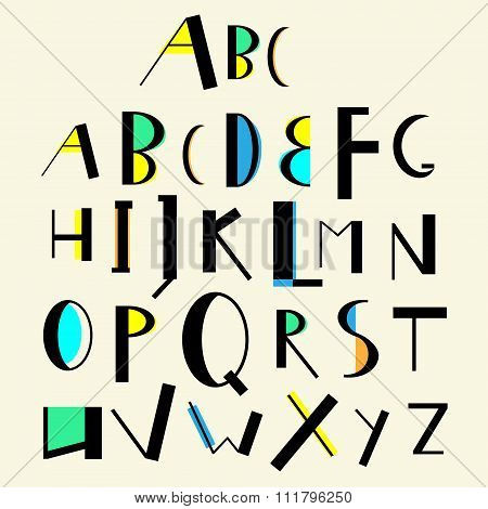 Vector Cute English Alphabet