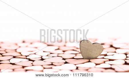 Wooden Little Hearts