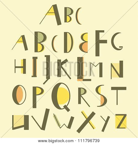Vector English Uppercase Alphabet