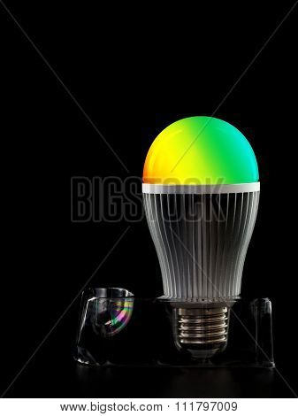 Led Colored Bulb On A Stand