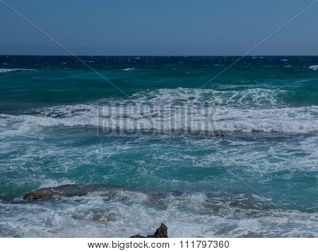 Beach Rough Sea Waves