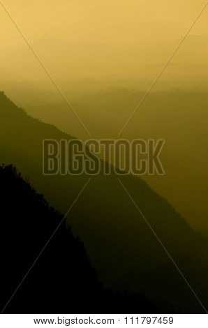 Mountains in Yellow Shadow