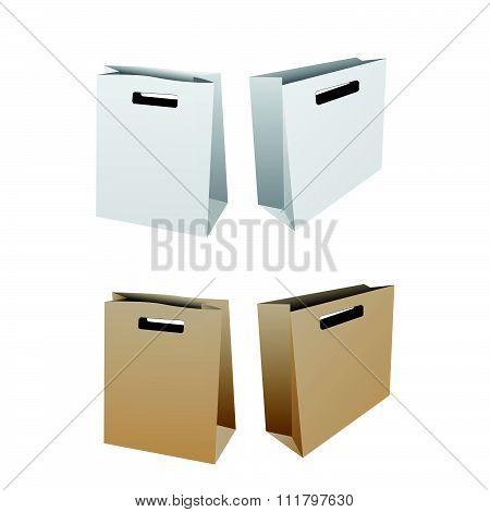 Paper back die cut center mock up