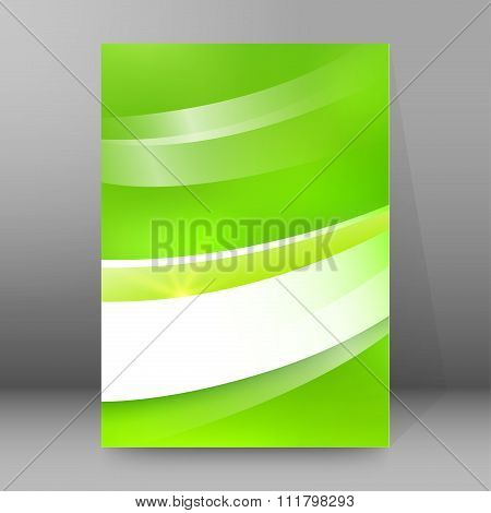 Green Background Report Title Page Booklet Layout