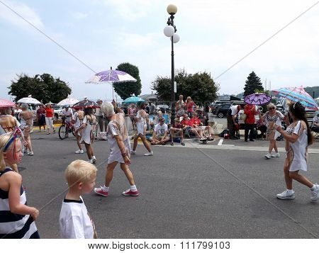 Ladies March in the Harbor Springs 4th of July Parade