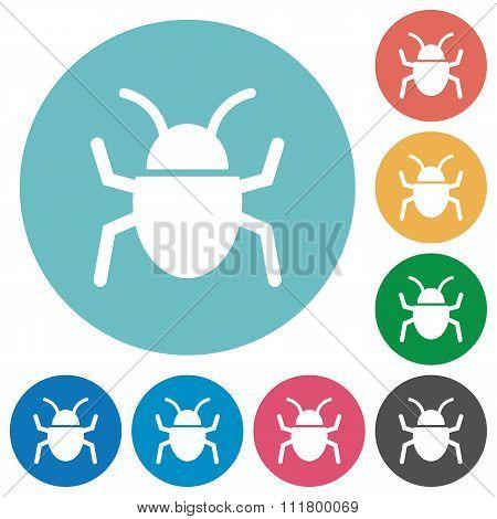 Flat Bug Icons