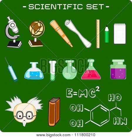 Set Of Scientific Icons