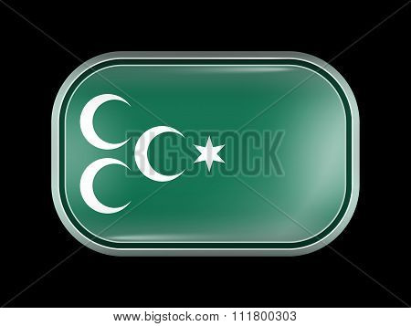 Ottoman Empire Variant Flag. Rectangular Shape With Rounded Corners